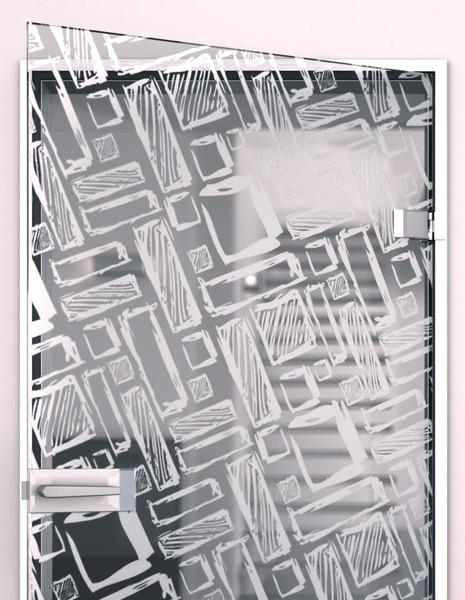 Produktbild 2 Glastür gelasert mit Motiv Art Design by Lionidas - Die Glastür mit dem Motiv Art Design eignet sich perfekt für jeden modern gestalteten Wohnraum.