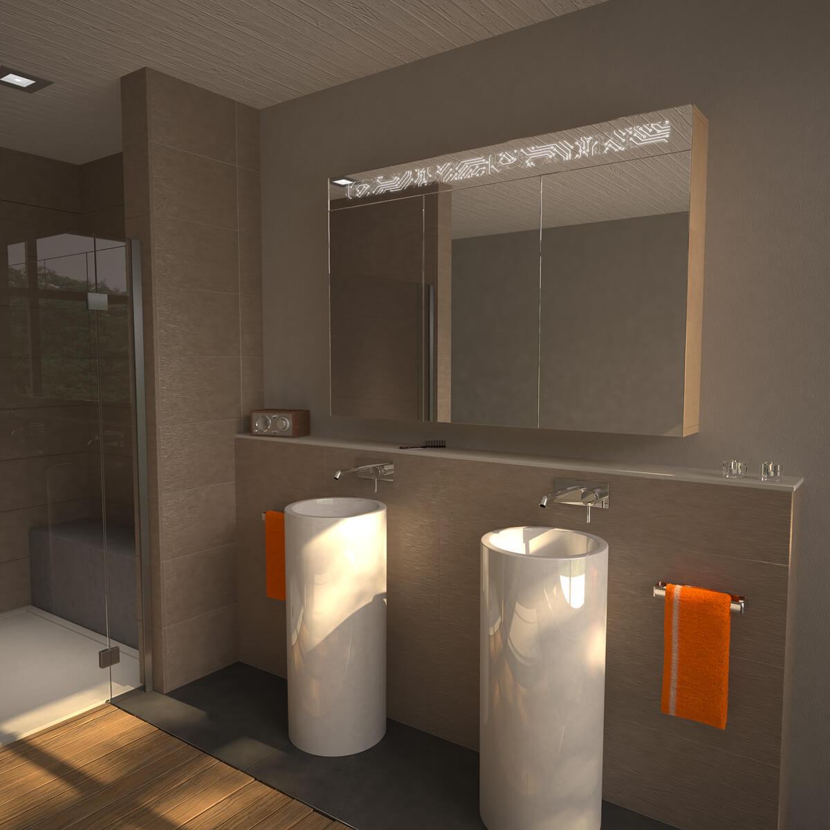 Design-Spiegelschrank Matrix