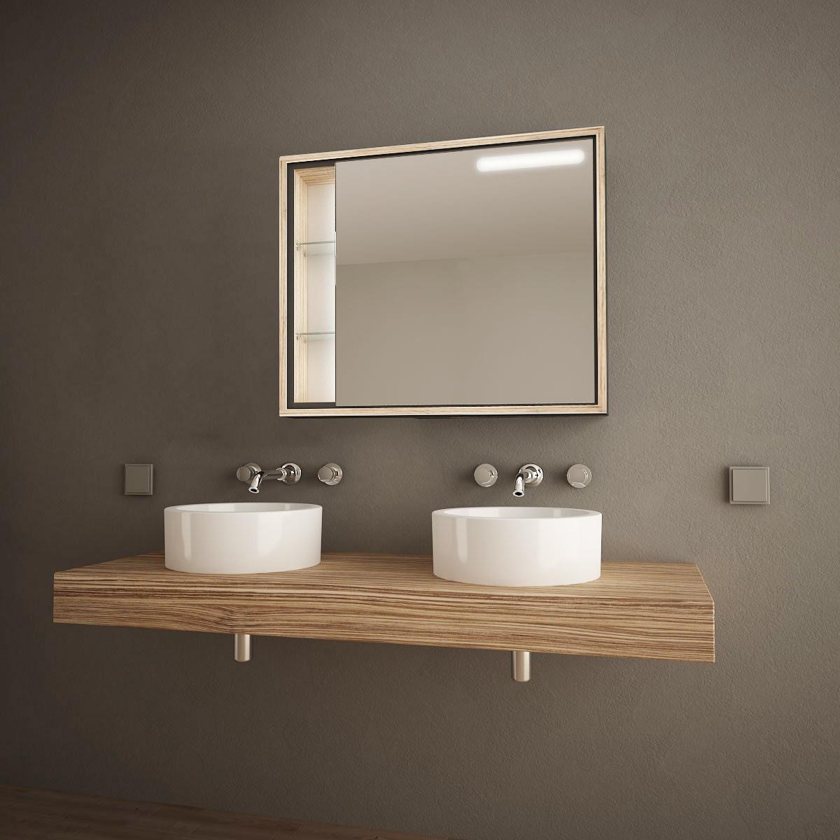 Badezimmer-Spiegelschrank Cariso 989705246