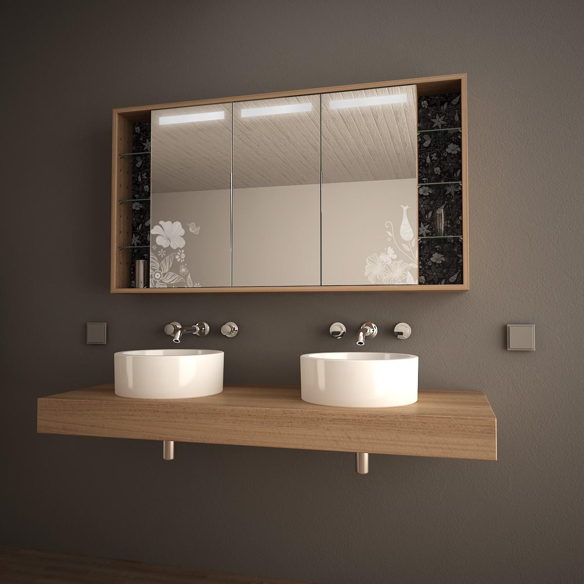 Holz-Spiegelschrank mit LED Hermosa 989705253