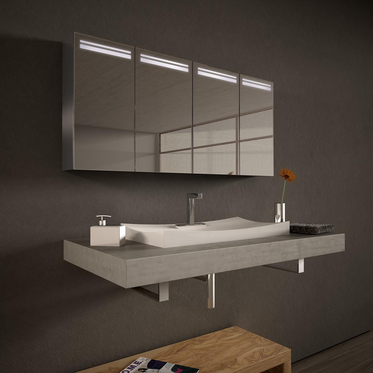 Spiegelschrank LED nach Maß aus Aluminium - Providence
