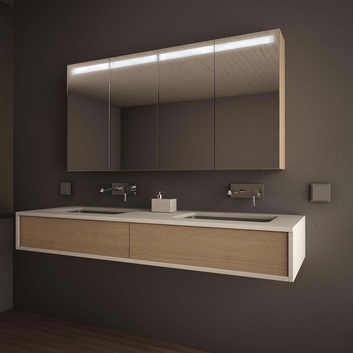 Badezimmer-Spiegelschrank Linja beleuchtet 989705277