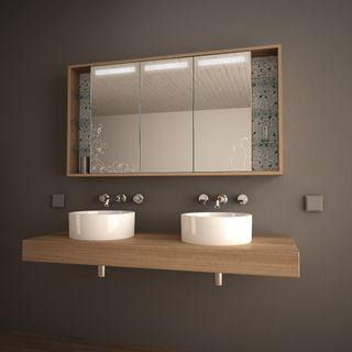 Spiegelschrank mit Designglas Novalis  – Bild 1