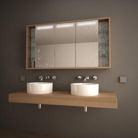 Spiegelschrank mit Designglas Novalis
