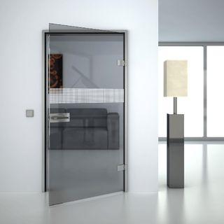Produktbild 1 Glastür gelasert mit Motiv Rooster I by Lionidas] - Die Glastür Rooster I ist ein edles Stück Glas.