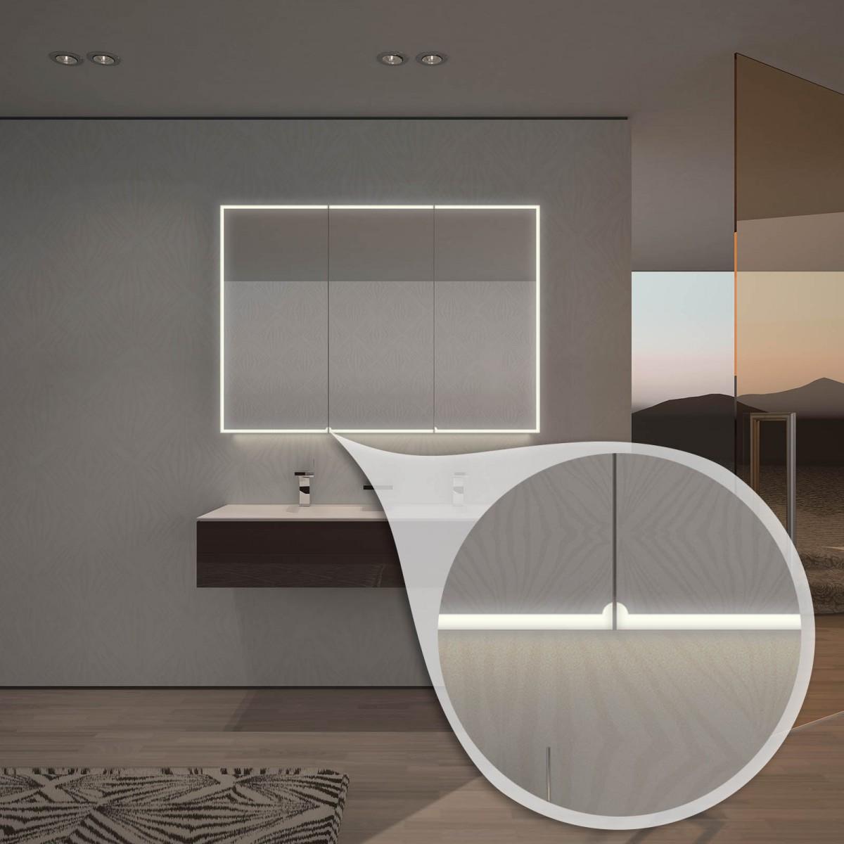 Spiegelschrank nach Maß mit LED-Beleuchtung Aurel 989705647