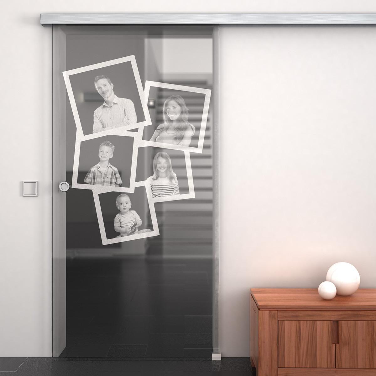Glas-Schiebetür mit Wunschmotiv 989705782