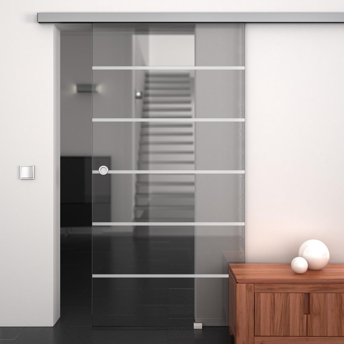 glas schiebet r satiniert mit motiv ihsak 989706273. Black Bedroom Furniture Sets. Home Design Ideas