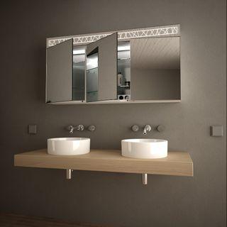 Spiegelschrank mit Glasablagen Linjat  – Bild 2