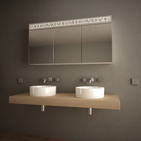 Spiegelschrank mit Glasablagen Linjat