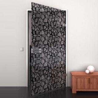 Glastür lackiert mit Lasermotiv Black Snoet (989706520) ab 759,00 EUR von Lionidas auf glastüren-shop.com
