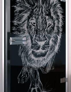 Lacobel-Glastür Lion King – Bild 2