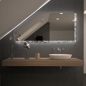 Spiegel für Dachschrägen mit LED Beleuchtung – Rosara