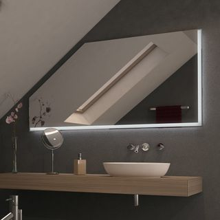 Spiegel für Dachschrägen mit LED Beleuchtung – Linovo  – Bild 2