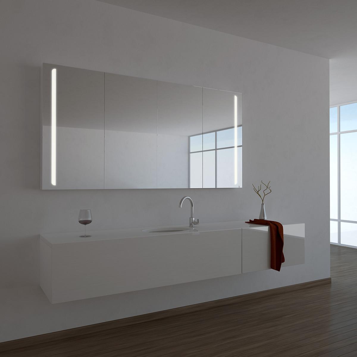 Sehr Spiegelschrank Ogrel mit LED Beleuchtung 989706595 KH59
