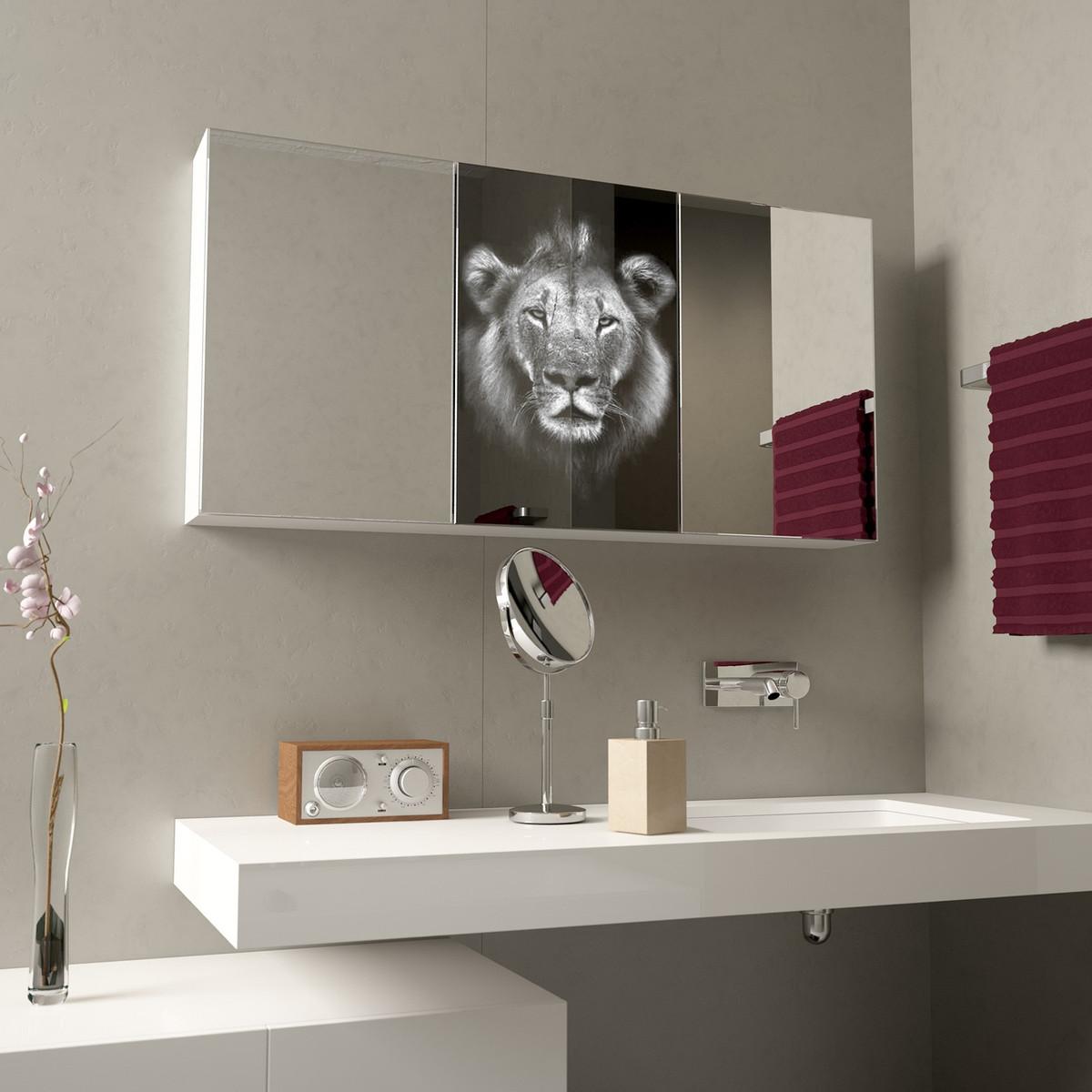 Spiegelschrank mit Löwenkopf Lion