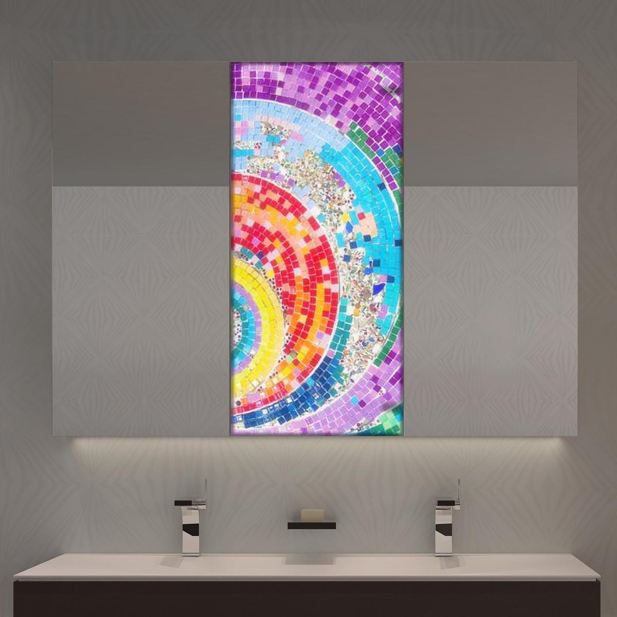Spiegelschrank Mosaika mit Motiv