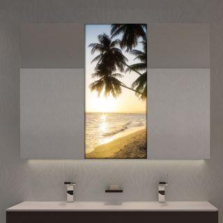 Spiegelschrank mit Glastür Palmen  – Bild 1