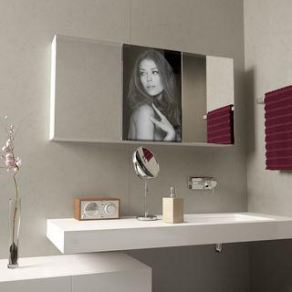 Spiegelschrank mit Glastür aus Lacobel Sensual  – Bild 1