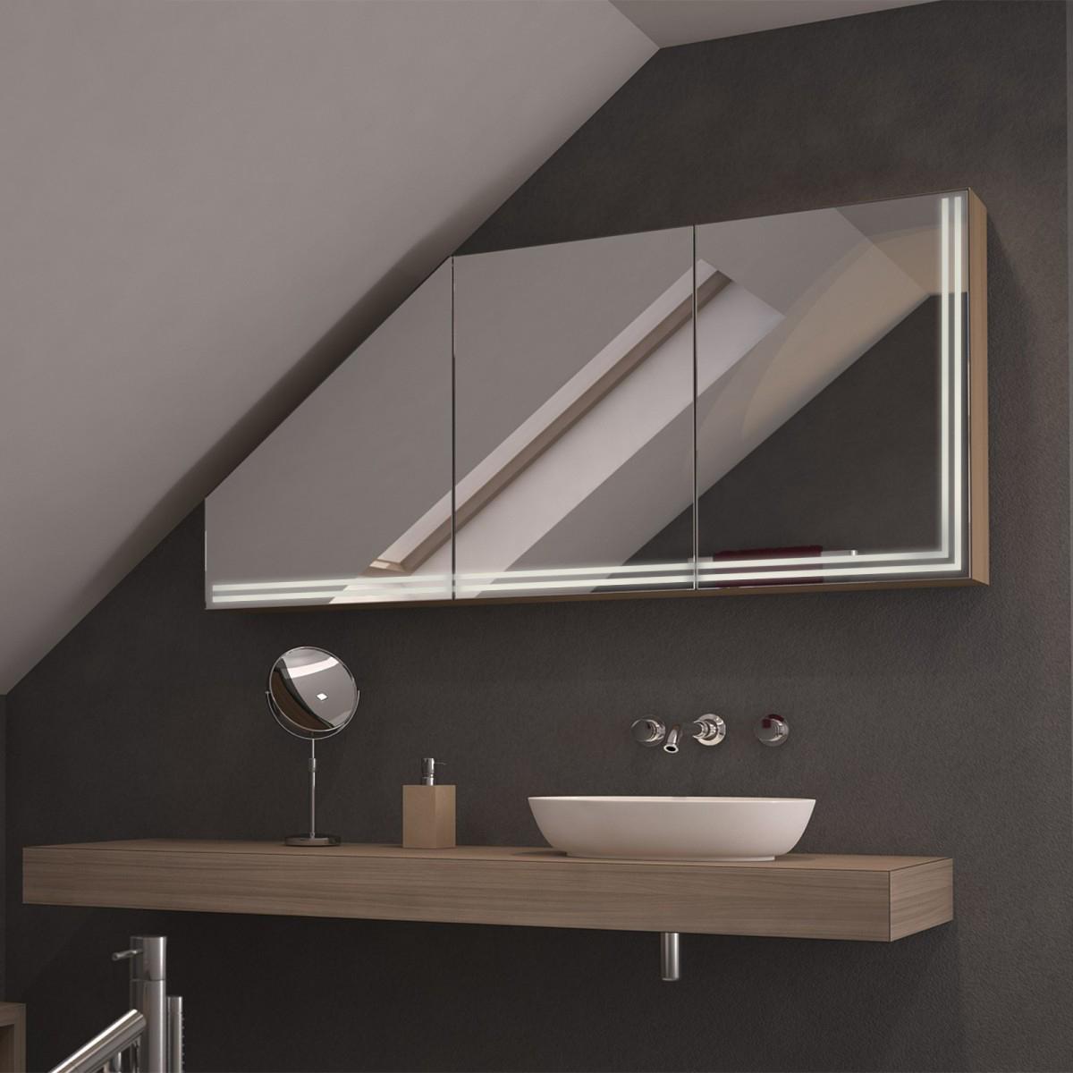 Dachschrägen-Spiegelschrank Anuba