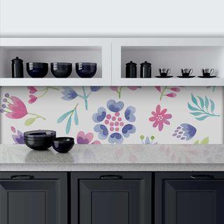Küchenrückwand aus Glas Flowerpower – Bild 1
