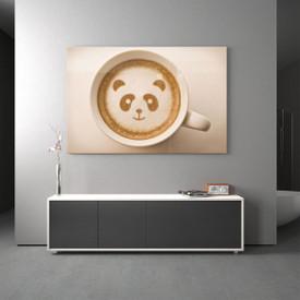 Glasbild Panda Cafe