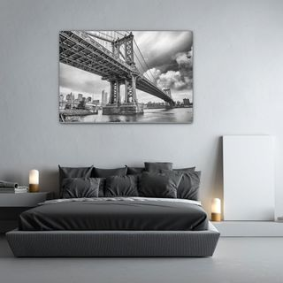 Glasbild Brooklyn Bridge – Bild 1