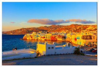 Glasbild Kreta Sonnenuntergang – Bild 3