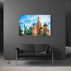 Glasbild Moskau Basilius