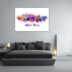 Glasbild New York