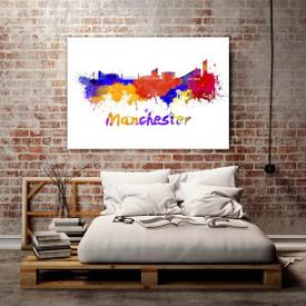 Glasbild Manchester