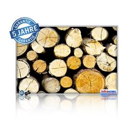 Infrarot Bildheizung Holzstapel