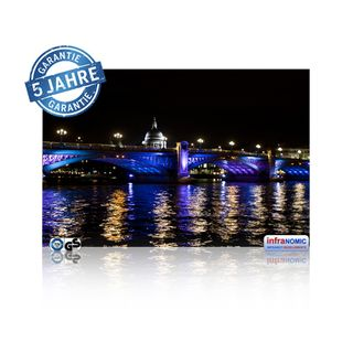 Infrarot Bildheizung London bei Nacht rahmenlos