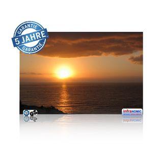 Infrarot Bildheizung Sonnenaufgang rahmenlos