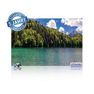 Infrarot Bildheizung Bergsee rahmenlos