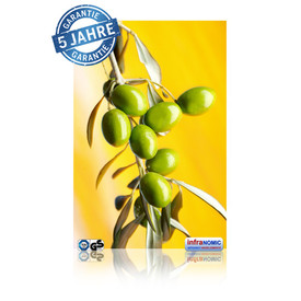 Infrarot Bildheizung Oliven rahmenlos