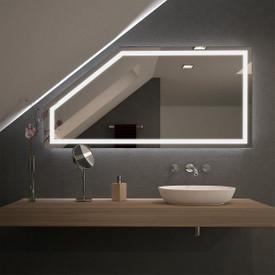 Spiegel für Dachschrägen mit LED Beleuchtung Fiola