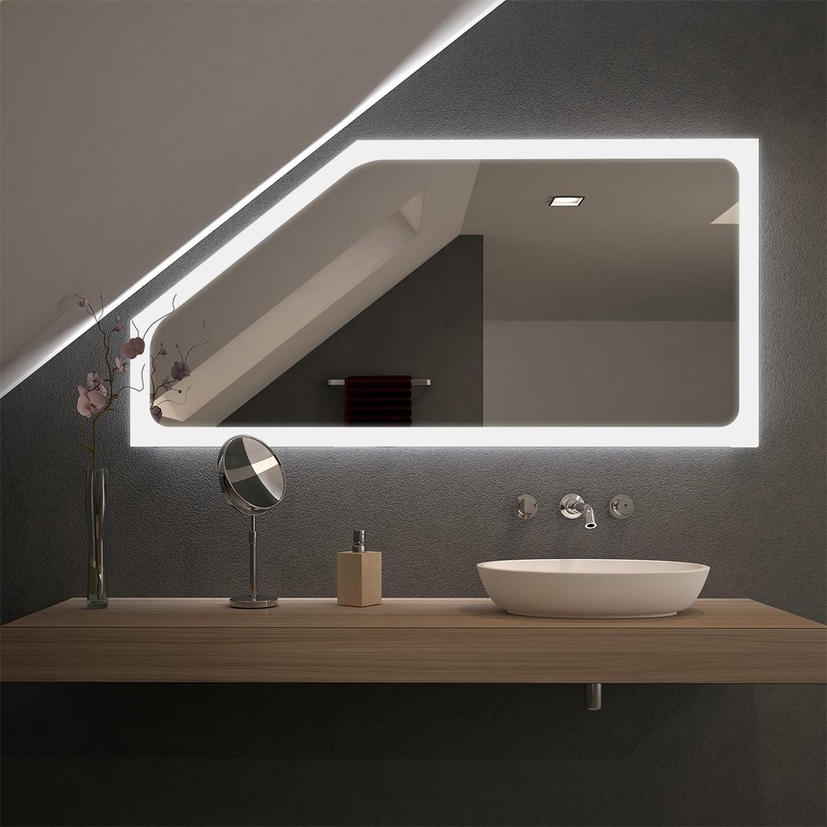 Spiegel für Dachschrägen mit LED Beleuchtung Kalis