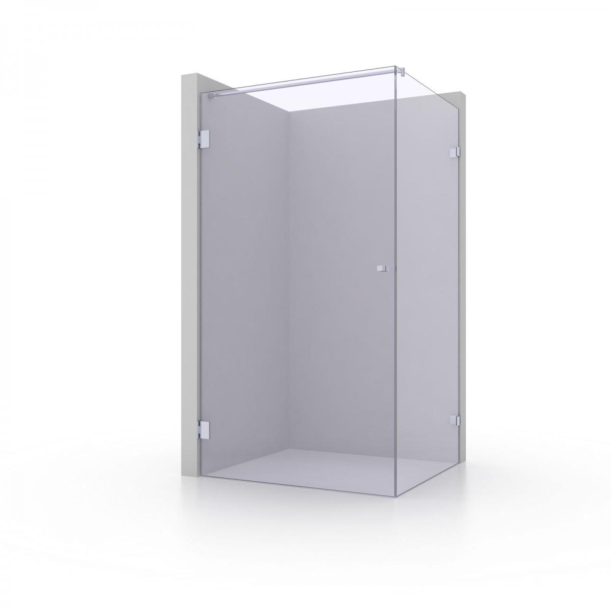 Rahmenlose Eck-Dusche mit einem Türflügel/Türanschlag