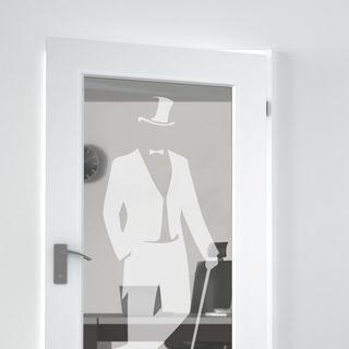 Lichtausschnitt gelasert mit Motiv Gentleman – Bild 2