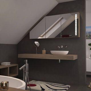 Dachschrägen-Spiegelschrank Wired – Bild 2