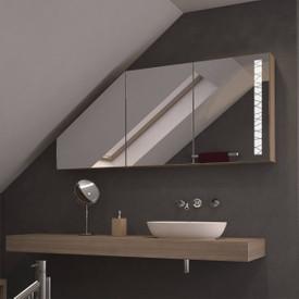Dachschrägen-Spiegelschrank Wired