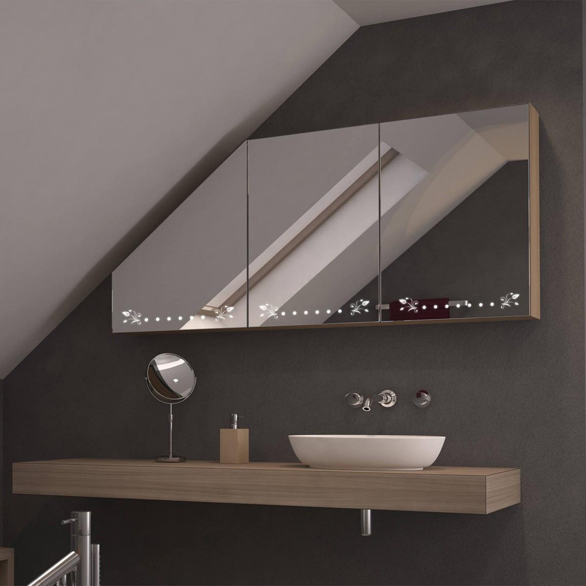Dachschrägen-Spiegelschrank Filori