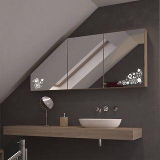Dachschrägen-Spiegelschrank Birdly – Bild 1