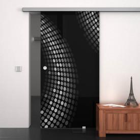 Glasschiebetür lackiert mit Lasermotiv Eckernförde