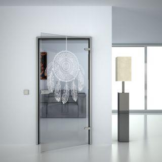 Glastür gelasert mit Motiv Dreamcatcher (989707704) ab 359,00 EUR von Lionidas auf glastüren-shop.com