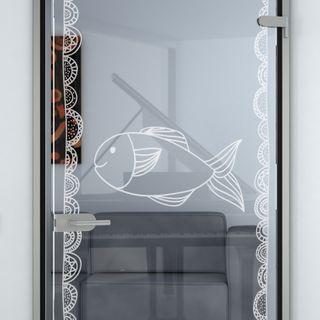 Glastür gelasert mit Motiv Dülmen Detail