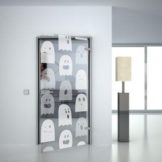 Glastür gelasert mit Motiv Geisterjäger (989707715) ab 459,00 EUR von Lionidas auf glastüren-shop.com
