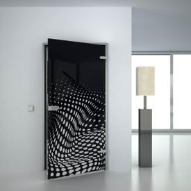 Glastür lackiert mit Lasermotiv Dalarion