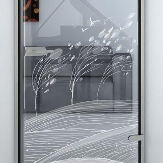 Glastür mit Motiv Schweinfurt Detail
